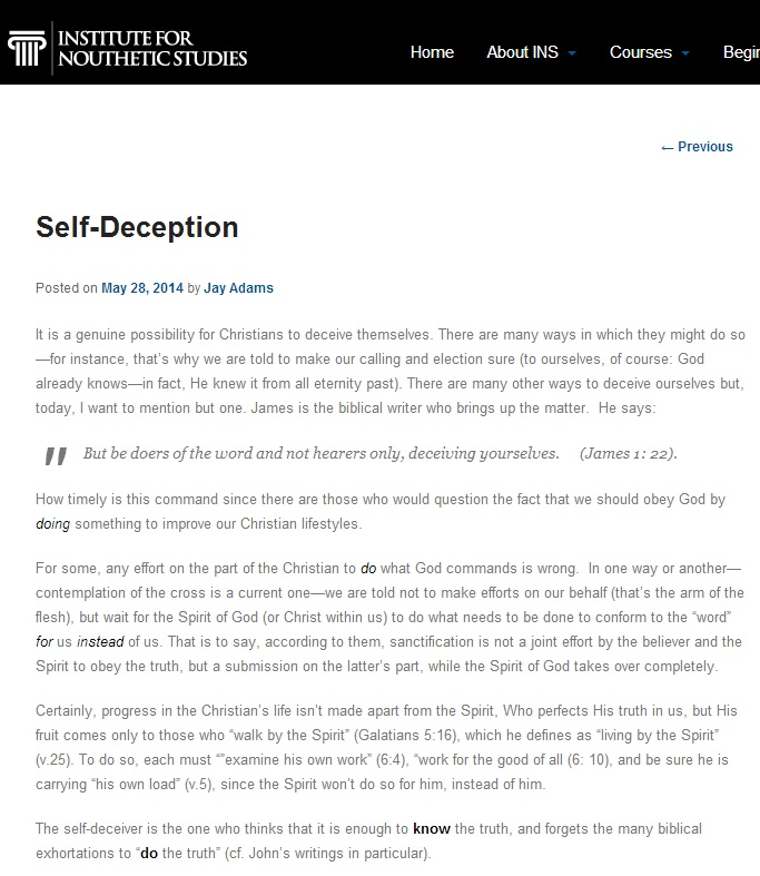 Adams. Self Deception 2