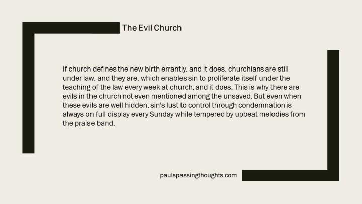 evil church