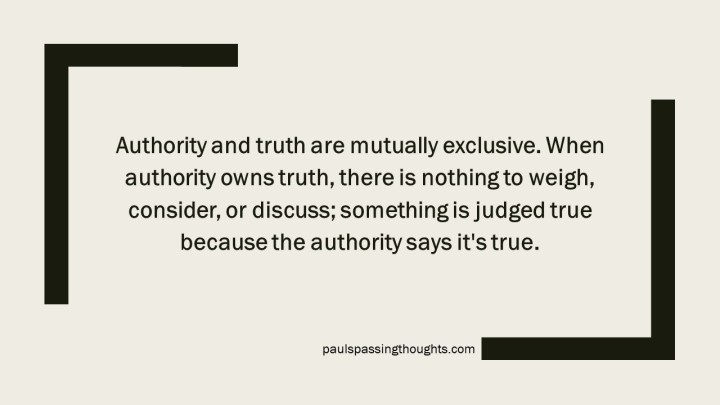 Authority and Truth