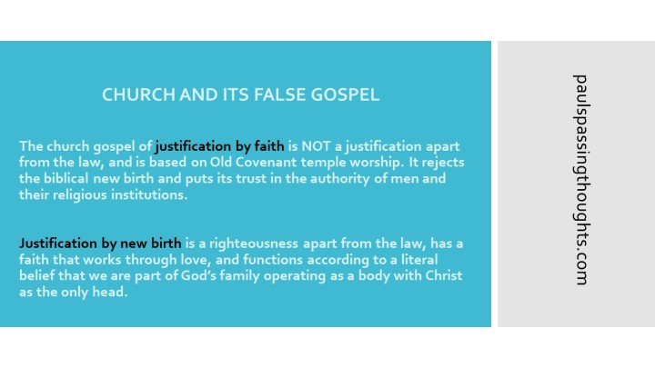 Church False Gospel